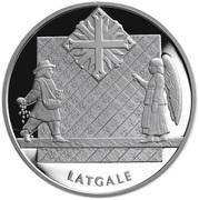 1 Lats (Latgale) – revers