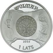 1 Lats (Valmiera) – avers