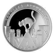 1 Lats (Lucky coin) -  avers