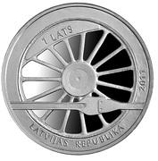 1 Lats (Railway in Latvia) -  avers