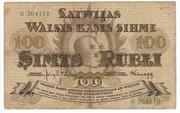 100 Rubļi – avers
