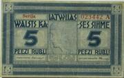 5 Rubļi – avers