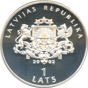 1 Lats (Lutte greco-romaine) -  avers