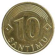 10 santimu – revers