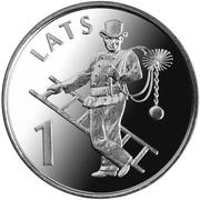 1 lats -  avers