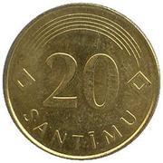 20 santimu -  revers