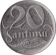 20 santimu – revers