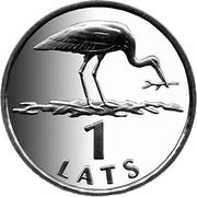 1 lats (cigogne) – revers