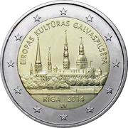 2 euros Riga capitale européenne de la culture -  avers