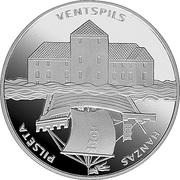 1 Lats 2000 (Hanzas pilsētas,Ventspils,Hansa cities) – revers