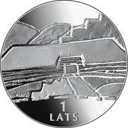 1 Lats (Earth) – revers