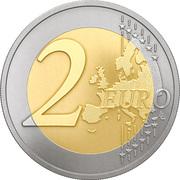 2 euros Cigogne -  revers