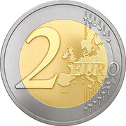 2 euros Agriculture lettone -  revers