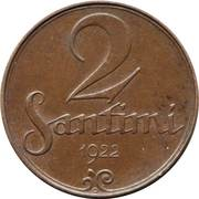 2 santimi – revers