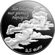 2½ euros Eduards Veidenbaums (Veidenbaums) – avers