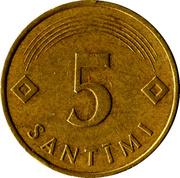 5 santimi – revers