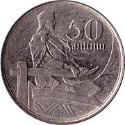 50 santimu – revers