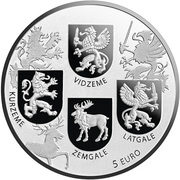 5 Euro (Coats of Arms Coin) -  avers
