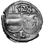 1 pfennig Johann IV – avers