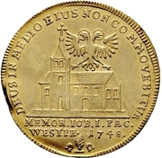1 Ducat (Peace of Westphalia) – revers