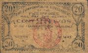 20 Centavos (Leyte) – revers