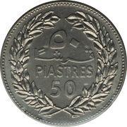 50 qirshā / piastres (Essai) – revers