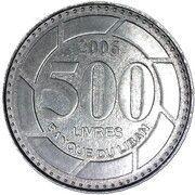 500 līrah / livres -  revers