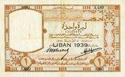 1 Livre (LIBAN 1939) – avers