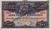 100 Livres (LIBAN 1939) – avers