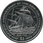 1 Dollar Kon-Tiki – revers