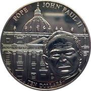 10 Dollars Jean Paul II (maillechort) -  revers