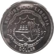 1 Dollar Republic of Liberia – avers