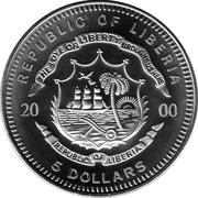 5 dollars Titanic – avers