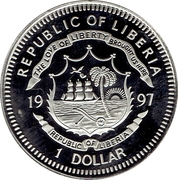 1 Dollar (Marine-life Protection) – avers