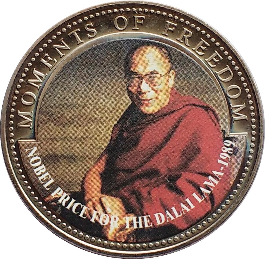 10 dollars prix nobel de la paix au dalai lama 1989 lib ria numista. Black Bedroom Furniture Sets. Home Design Ideas