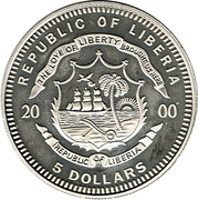 5 Dollars - XXVII Olympiad - Sydney 2000 – avers