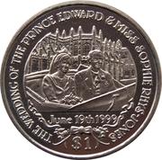 1 Dollar (Mariage du Prince Edward) – revers