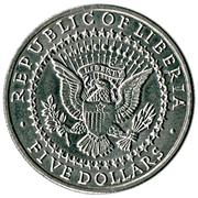 5 dollars (George Washington) – avers