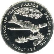 5 dollars (Attaque de Pearl Harbor) – revers