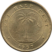 ½ cent – revers