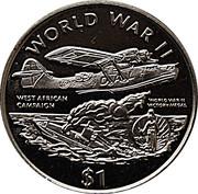 1 Dollar (Campagne d'Afrique de l'Ouest) – revers
