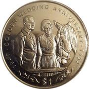 1 Dollar (Golden Wedding) – revers