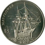 5 dollars (Mayflower) – revers