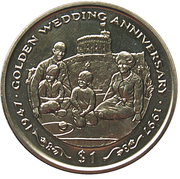 1 Dollar (Royal Couple With Children) – revers