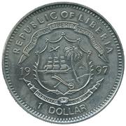 1 dollar (Liberia Golden Wedding Dollar) – avers