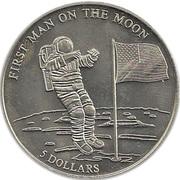"""5 dollars - Homme sur la lune (avec """"5 DOLLARS"""") – revers"""