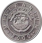5 Dollars (Millennium 2000 Zodiac - Monkey) – avers