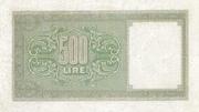 500 Lire – revers