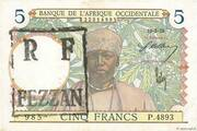 5 Francs (French occupation of the Fezzan - WWII) – avers
