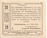 20 Heller (Lichtenberg) – revers